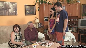 His old parents seduce teen into family threesome