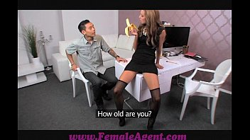 Female Agent Alessa savage hot strap on fuck with horny agent