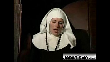 A sexy naughty emo nun masturbates on couch with her new secret vibrating toys and jumps on dildo