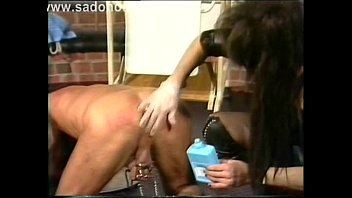 fx-tube com/fss latex mistress gaged and whipped her leather slave girl