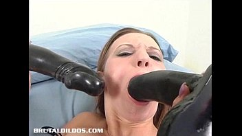 Blowjob Of A Big Toy Dick. My Mouth Is Full Of It Cum. Very Sloppy!
